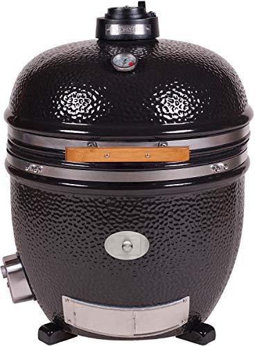 Monolith keramische grill Le Chef zwart Guru Edition zonder frame & zijtafels