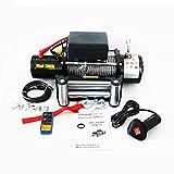 Snowtaros Cabrestante eléctrico de 12 V, cabrestante eléctrico, 13000 lbs / 5896,7 kg, cable de alambre de cabrestante con mando a distancia
