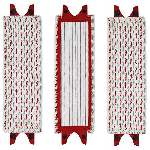 Fauge 3 Piezas Almohadillas de Microfibra de Repuesto para Fregona de Piso PaaO de Limpieza PaaO de Fregona para Ultramat XL Recambio de Fregona