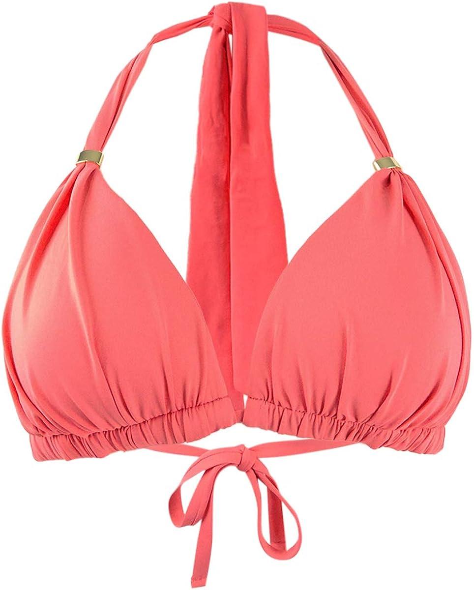 Lauren Ralph Lauren Women's Triangle Halter Bikini Swim Top Swimsuit