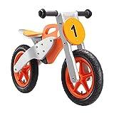 Rad BIKESTAR Kinderlaufrad Lauflernrad Kinderrad für Jungen und Mädchen ab 3 - 4 Jahre ★ 12 Zoll Kinder Laufrad Holz Motorrad ★ Orange für Kinder bei Amazon