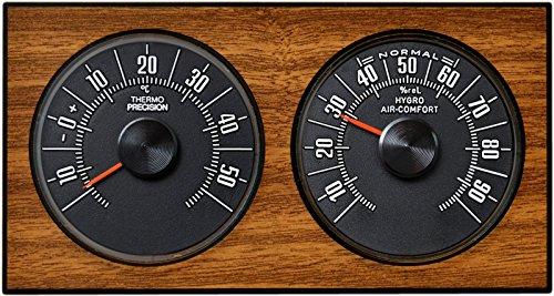 Analoge Wetterstation Thermometer Hygrometer 1972 Eiche Richter/HR Art. 47036