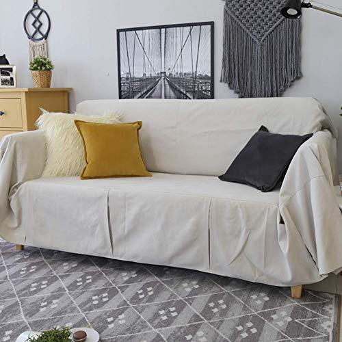 H-CAR Funda de sofá de Color sólido, Four Seasons Universal 1 Pieza Protector de Muebles Antideslizante Protector de sofá Suave para 1 2 3 Cojín de sofá Sillón-e 190x200cm (75x79inch)