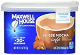 Maxwell House Suisse Mocha Sugar Free Instant Coffee International Cafe (16.4oz Canisters, Pack of 4)