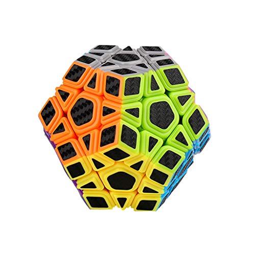 HZZ Speed Cube Megaminx 86x86x74, Magic Cubes Brain Teaser Twist Juguete Adhesivo De Fibra De Carbono