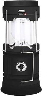 Irypulse LED Camping Linterna Lámpara Portátil Luz de Emergencia Ultraligero Brillante Impermeable Base Magnetica USB Recargable Bateria Cargada Ideal para Camping Senderismo Pesca Emergencia
