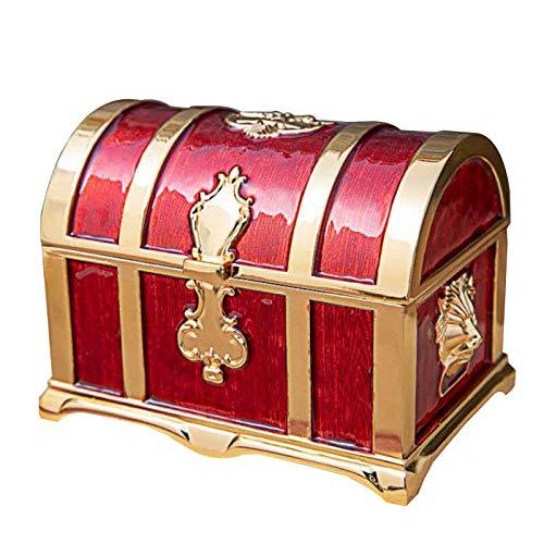 zhiwenCZW Caja de joyería vintage pirata tesoro caja regalo almacenamiento collar colgante caja de embalaje antiguo retro