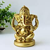 alikiki India Home Pooja Ganesha Statue - Indian Ganesh Handmade Ganpati Elephant - Hindu Mandir Diwali Decoration, Wedding Party Arts Presents
