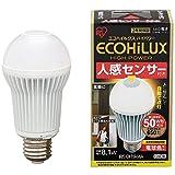 エコルクスハイパワー 人感センサー LED電球 8.1W 電球色 箱1個