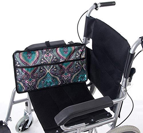 51Br5qWX9VL. SL500  - Bolsa de almacenamiento, bolsa lateral para silla de ruedas, universal y portátil, impermeable, accesorio para silla de ruedas, adecuado para andador, andador, scooter.