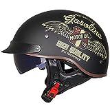 TYXTYX Casco Moto Jet Uomini e Donne Star Casco Aperto Motociclo Scooter Open Face Casco Cruiser Chopper Vintage Urban Touring Helmet
