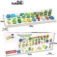 Afufu Giochi Bambini 3+ Anni, Giocattoli Educativi Montessori da Puzzle in Legno, Anelli impilabili per Imparare la Matematica Contare e Imparare i Colori, Giochi Educativo Set Regalo per 3 4 5 Anni #6