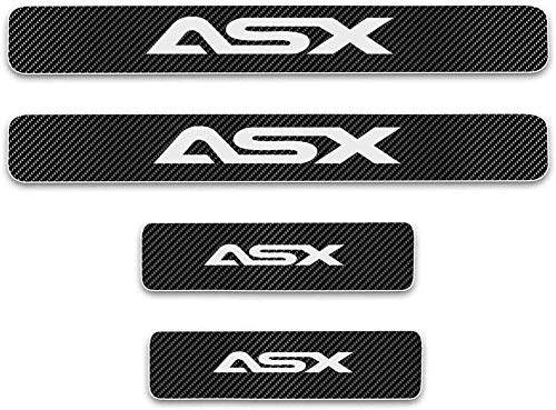 WanMei 4 Pcs Coche Fibra Carbono Protector Umbral Puerta para Mitsubishi ASX, Pegatinas Cubierta Película Antipatada Accesorios