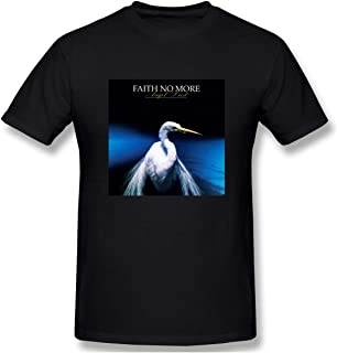 Charlynie Men's Logo Print of Faith No More Angel Dust Casual Short Sleeve T Shirt Black