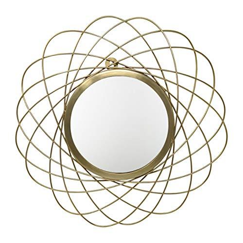 LaLe Living Wandspiegel - Ayna - Spiegel aus Eisen in Gold zum aufhängen an die Wand, Ø 44,5 cm