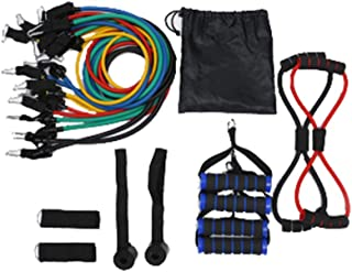 プルロープ男性の筋力トレーニング抵抗バンドトレーニング筋力トレーニング腹筋筋力ラテックス弾性ロープフィットネスプーラースーツ (色 : 250 pounds)