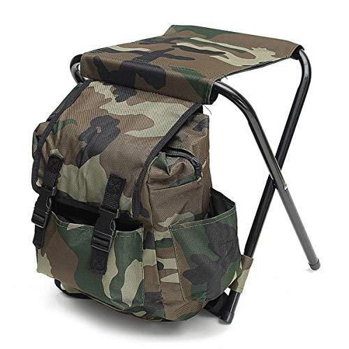 Select Zone Mochila plegable portátil para exterior, silla plegable, taburete para camping, picnic, carga máxima de 100 kg