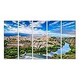 Bild Bilder auf Leinwand Toledo Spanien Altstadt Skyline am