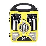 7Pcs Llave Inglesa Multifuncional de Combinación de Trinquete de Cabeza Flexible 8-19mm Juego de...