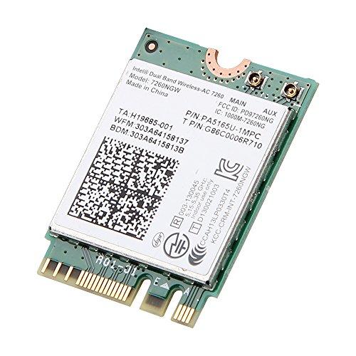 Intel Dual Band Wireless-ac 7260 7260ngw Ngff Pcie Bluetooth Bt Wireless WiFi Card 802.11 Ac a B G N Kttyn for Dell Laptop
