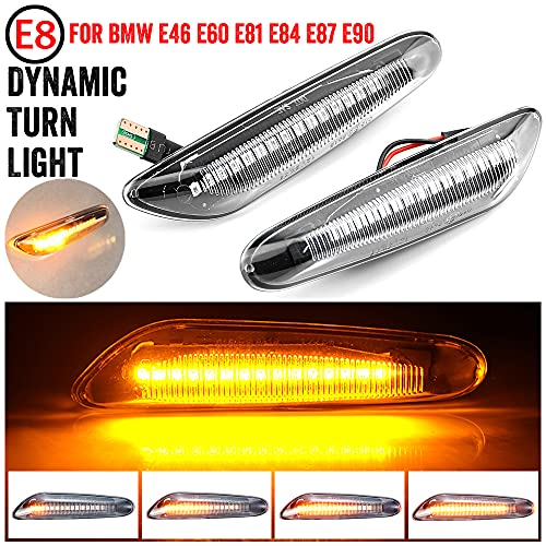 MKptopia 2 piezas marcador lateral dinámico Led, indicador de luz intermitente lámpara...
