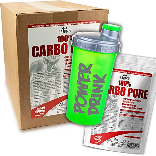 C.P. Sports Carbo Pur Kohledydrat Pulver, Maltodextrin, Kohlenhydrate Komplex 1000g, 2000g Beutel, 6000g Karton, Malto-dextrin, Kraftsport, Bodybuilding (1000g)