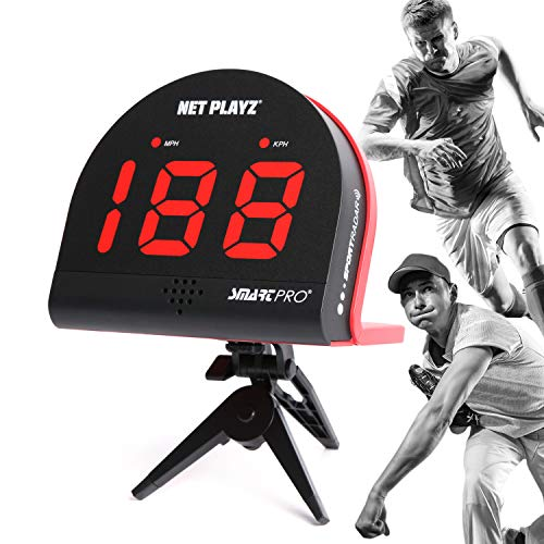 NET PLAYZ Baseball Softball Personal Speed Radar Detector Gun, Measurement Baseball Pitching