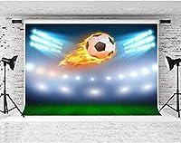 HDサッカーの背景サッカーピッチの写真の背景サッカースタジアムのポートレート写真撮影の小道具写真の背景10x7ftFSLX112