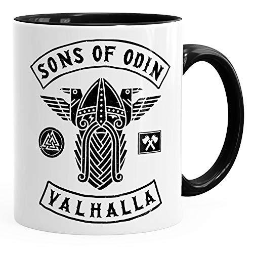 Kaffee-Tasse Sons of Odin Valhalla Vikings Wikinger Fan Geschenk Moonworks® schwarz unisize