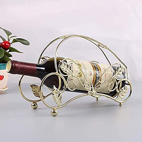 CAIJINJIN estante del vino Mariposa vino portátil de artículos de uso doméstico estante sólida casa de hierro de estilo europeo restaurante de metal retro barra de escritorio suministros de cocina Dec
