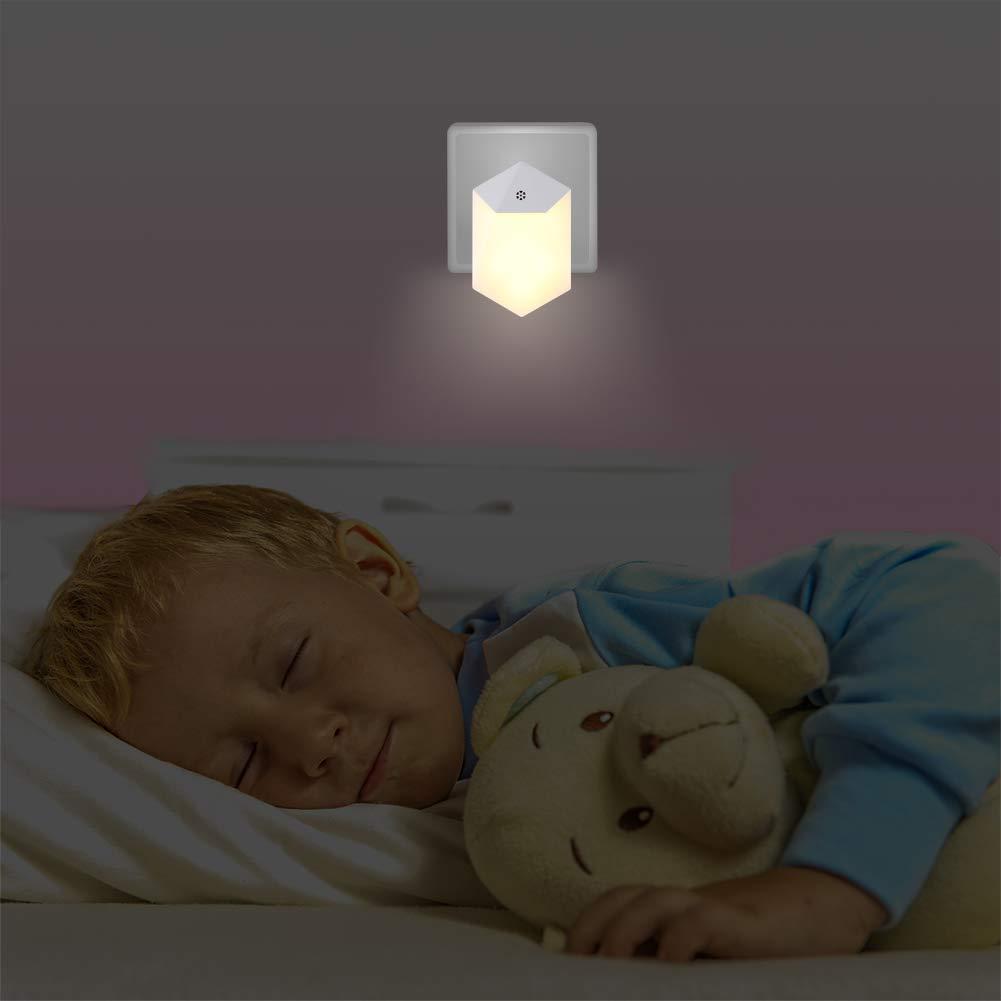 Luz Nocturna Led, Johnbee (2 Paquetes) sensor De Luz Plug-and-play Con Detección Automática, Luz Nocturna Para Niños, Sala De Bebés, Sala De Estar, Garaje, Baño/Pasillo, Luz Suave [ A ++]: Amazon.es: Iluminación