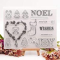 カードは装飾とDIYスクラップブッキングを作るためのメリークリスマスツリーオーシャンワールドトラベル城クリアスタンプ C