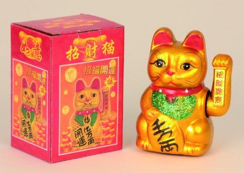 Chinesische Glückskatze mit Winke-Tatze Höhe 17cm