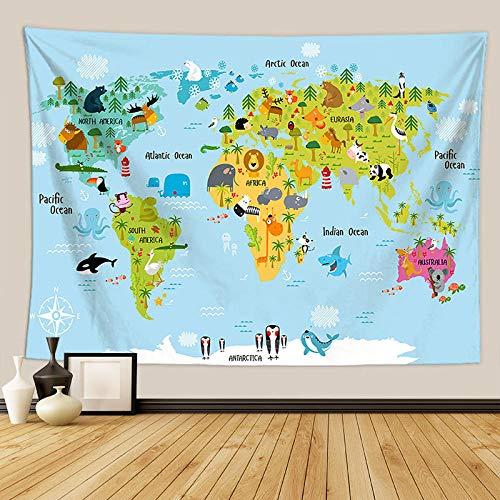 Rkmaster-Tape Wandtapijt, strandlaken, stof, hangmat, picknick, kinderen, cartoon bio-kaart voor slaapkamer, decoratie thuis