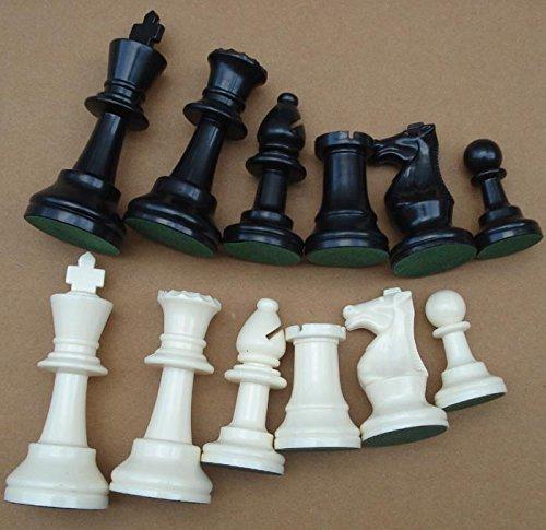JIESD-Z 32 piezas de ajedrez en blanco y negro, reemplaza piezas viejas o faltantes solo piezas sin tablero para juegos de mesa y juego de ajedrez