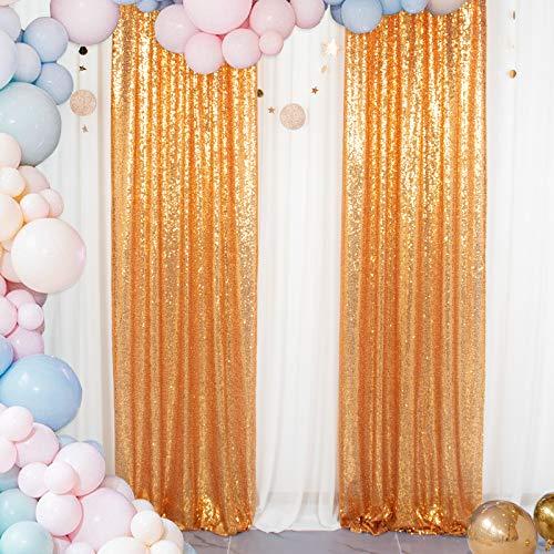 ShinyBeauty Hintergrund-Vorhang Gold Pailletten-Hintergrund 2FTX8FT Baby-Dusche Vorhang Hintergrund Fotografie Hintergründe Glitter Hochzeitsfeier Pailletten Hintergrund 24