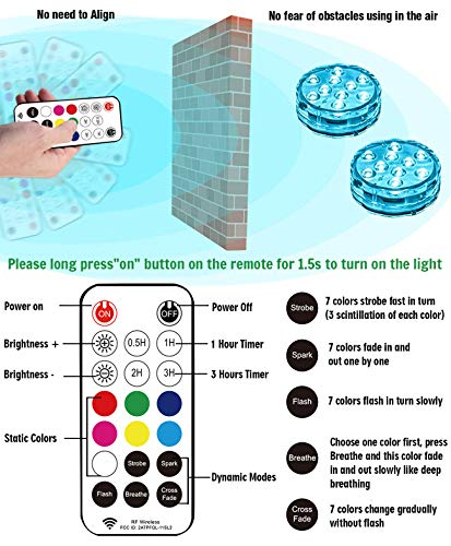Qoolife Magnetic Submersible Light for Pool, Hot Tub
