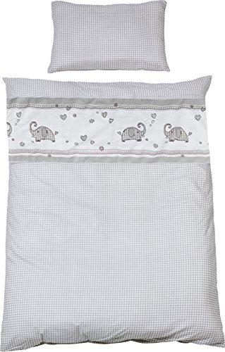 roba Bettwäsche 2-tlg, Kollektion 'Jumbotwins', Kinderbettwäsche 100x135 cm, 100% Baumwolle, Decken-& Kissenbezug für Babys & Kinder