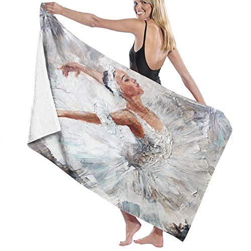 Toalla de Playa de Microfibra de Gran tamaño,Pintura al óleo niña Bailarina,Toalla de baño Absorbente Suave y Ligera para Nadar, Deportes, Piscina, Gimnasio, Camping (52 × 32 Pulgadas)