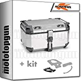 kappa maleta kfr580a k'force 58 lt + portaequipaje monokey compatible con kymco downtown abs 125 350 i 2017 17