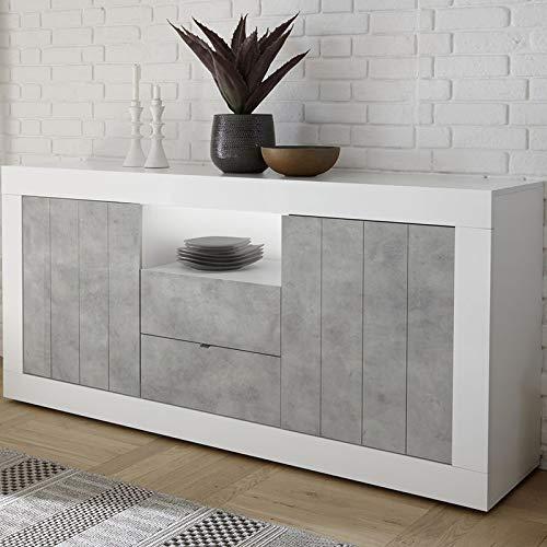 Dressoir 180 cm wit betoneffect grijs modern Urban 5