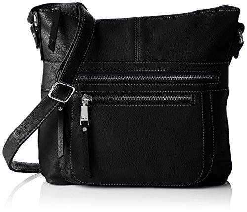 Gabor Umhängetasche Damen TINA, (schwarz 60), 28x26x5 cm, Gabor Handtasche Damen