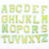Parches para planchar/Patch Sticker, aplicado para la camiseta jeans Ropa Chaqueta Mochila Bolso y zapato, 26 letras 26PCS