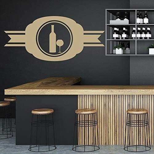 Tianpengyuanshuai muurstickers, muurschildering, glazen vaas, dranken, restaurant, keuken, vinyl, ramen, logo