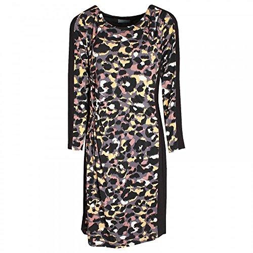 Michaela Louisa Jersey Printed Long Sleeve Dress 18 Black Multi