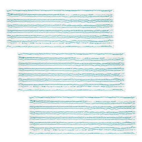 Isincer 3 Stück Mikrofaser Wischbezug für Leifheit, Bodenwischer Ersatzbezug mit 2-Faser-System ideal für Fliesen, Laminat und Bodenarten,Artikelnummer 55126
