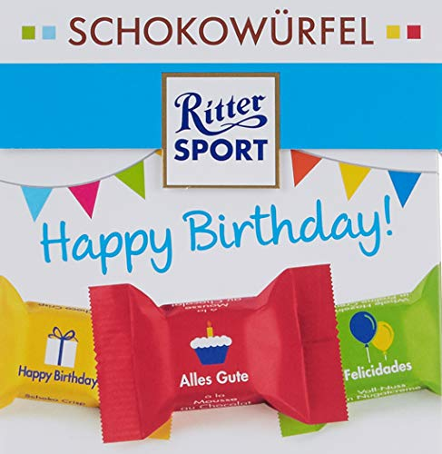 Ritter SPORT Ritter Sport Schokowürfel Happy Birthday, 4er Pack (4 x )