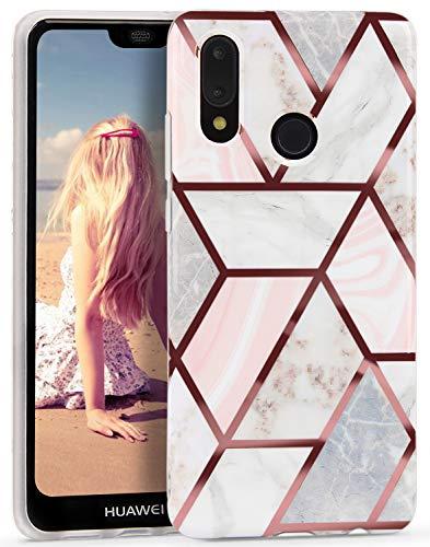 Imikoko Hülle für Huawei P20 lite Glitter Bling Rosegold Handyhülle TPU Silikon Weiche Schlank Schutzhülle Handytasche Flexibel Case Handy Hülle