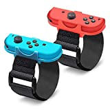 EEEKit Wrist Dance Band para Nintendo Switch Joy Cons Controller Game Just Dance 2020/2019, Correa elástica Ajustable para Joy-Cons, Paquete de 2 (Apto para muñeca de 3.15-7.5 Pulgadas)