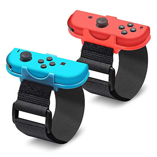 EEEKit Wrist Dance Band para Nintendo Switch Joy Cons Controller Game Just Dance 2020/2019, Correa elástica Ajustable para Joy-Cons, Paquete de 2 (Apto para muñeca de 3.15-7.5 Pulgadas)
